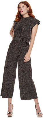 Nine West Women's Flutter Sleeve Jumpsuit