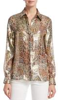Roberto Cavalli Silk Snake Print Shirt