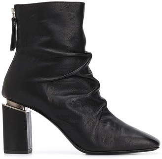 Vic Matié Ruched Ankle Boots