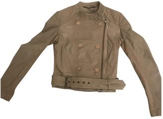 Trussardi Jeans Beige Leather Jacket for Women