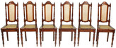 One Kings Lane Vintage 17th-Century-Style Cane Dining Chairs - Blink Home Vintique - natural/semi-gloss