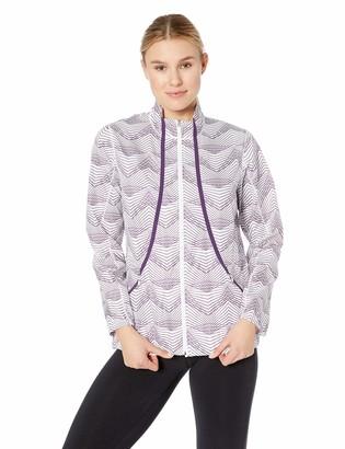 Cutter & Buck Women's Weathertec Quiet Packable Print Long Sleeve Full Zip Jacket