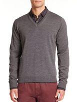 Toscano Merino Wool V-Neck Sweater