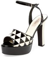 Valentino Garavani Patent Leather Platform Sandal