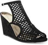Material Girl Kinzley Peep-Toe Wedge Sandals, Created for Macy's