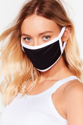 Nasty Gal Womens It's Up Two-Tone You Fashion Face Mask - Black