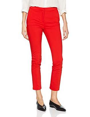 Springfield Women's 4.Gym.Ap.Chino Smart Coral Trousers,8 (Size:)