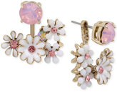 Betsey Johnson Gold-Tone Flower & Crystal Earring Jackets