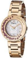 Salvatore Ferragamo Women's 'Gancino Sparkling' Quartz Stainless Steel Casual Watch, Color:Gold-Toned (Model: FF5920015)