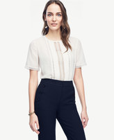 Ann Taylor Home Tops + Blouses Lacy Pleated Tee Lacy Pleated Tee