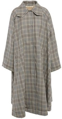 MM6 MAISON MARGIELA Prince Of Wales Checked Wool-blend Coat