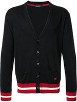 Loveless - striped trim cardigan - men - Silk/Cotton/Rayon - 1