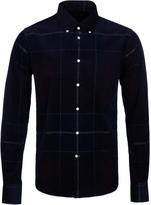 Barbour Nauton Merlot Fine Corduroy Tailored Fit Shirt