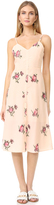 ENGLISH FACTORY Floral Embroidered Midi Dress