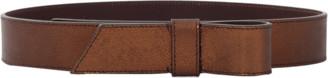 Lanvin Noeud Metallic Leather Bow Belt