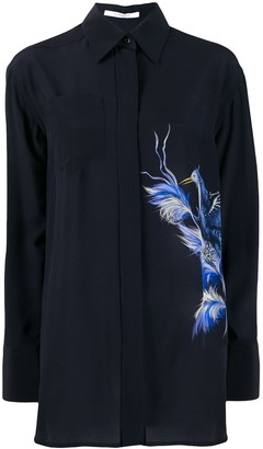 Givenchy Bird print silk shirt