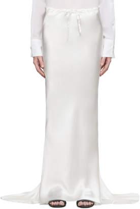 Ann Demeulemeester Off-White Silk Beverly Skirt