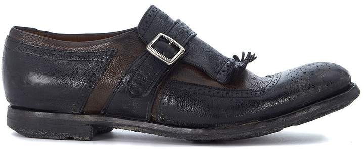 Church's Shanghai Black And Brown Leather Loafers