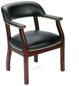 BOSS Traditional Black Reception Chair