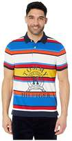 Tommy Hilfiger Adaptive Polo Shirt with Magnetic Buttons Custom Fit (Sky Captain Multi) Men's Clothing