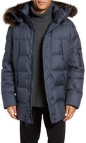Andrew Marc Altitude Quilted Down Jacket with Genuine Fox Fur Trim Hood