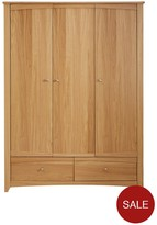 Exeter Easy Assembly 3 Door, 2 Drawer Wardrobe