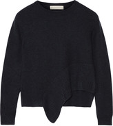 Stella McCartney Asymmetric cashmere and silk-blend sweater