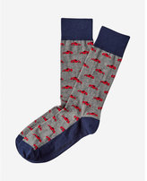 Express race car print dress socks
