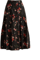 Rebecca Taylor Marguerite floral-print tiered skirt
