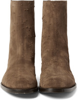 Givenchy - Distressed Suede Boots