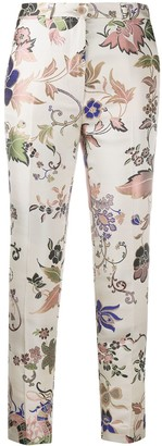 Etro Floral Jacquard Cropped Trousers