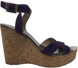 Jimmy Choo Purple Suede Sandals