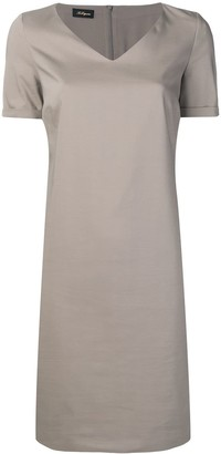 Les Copains neutral grey day dress
