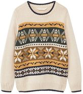 MANGO Boys Knitted Pattern Sweater