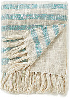 Noble Excellence Fringed Striped Throw
