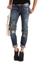 Charlotte Russe Patched & Distressed Skinny Jeans