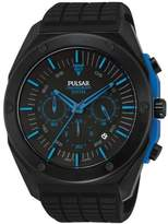 Pulsar PT3465 45mm Ion Plated Stainless Steel Case Silicone Mineral Men's Watch