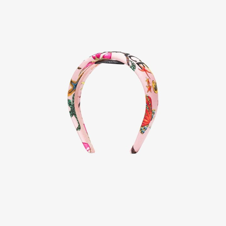 Thumbnail for your product : Versace Pink Tresor De La Mer Print Headband