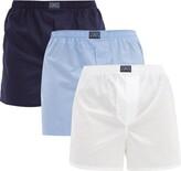 Polo Ralph Lauren Pack Of Three Cotton Boxer Briefs - Mens - Multi