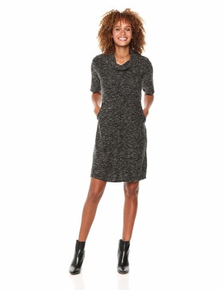 Tribal Women's Cowl Neck Shift Dress with Pockets
