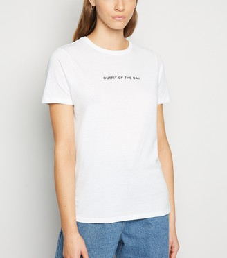 New Look Outfit Of The Day Slogan T-Shirt