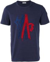 Moncler stitched logo T-shirt - men - Cotton/Polyester - S