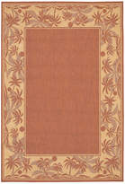 "Couristan Closeout! Area Rug, Recife Indoor/Outdoor 1222/1122 Island Retreat Terra-Cotta-Natural 8' 6"" Round"