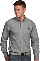 Antigua Men's Chicago White Sox Associate Plaid Button-Down Shirt