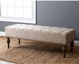 Abbyson Living French Vintage Ottoman in Wheat