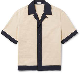 Deveaux Camp-Collar Contrast-Trimmed Shell Shirt - Men