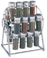 Old Thompson Olde Thompson Ferris-Wheel Chrome 20-Jar Filled Spice Rack