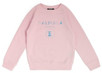 Balmain Kids Metallic Logo Sweatshirt (4-16 Years)