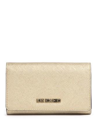 Love Moschino Gold Pvc Logo Wallet