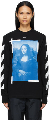 Off-White Black Mona Lisa Long Sleeve T-Shirt